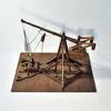 Catapulte médiévale - Maquette d'artisan - Bois, Cordes et Cailloux - Grand Modèle