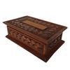 Coffre coffret boîte ancienne en bois sculpté 30 x 19 cm