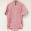Chemise rose à motifs