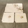Parure  nappe ronde et 6 serviettes Anne de Solène
