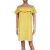Robe Kaporal T L jaune encolure Bardot