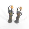 Lot de 2 statuettes femme africaine