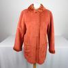 Manteau fausse fourrure orange 40