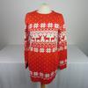Pull Femme Brave Soul London avec motifs flocons de neige et cerf de couleur rouge taille S
