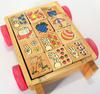 Remorque éducative en bois - Pour apprendre les chifres, les lettres et les images  en s'amusant.