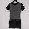 Robe grise en mailles fines - La Fée Maraboutée - Taille 10 ans
