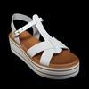 Chaussures sandales neuves André P 36 en cuir blanc cassé Talon compensé