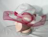 Chapeau Femme Blanc/Bordeau T 59cm