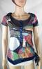 T-Shirt Femme Gris DESIGUAL Taille S.