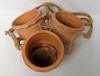 Trio de pots de fleur en terre cuite à suspendre