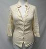 Veste en lin blanc cassé - Adolfo Dominguez - taille 36