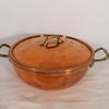 marmite avec couvercle style cuivre