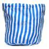 Pochon Fourre Tout Tissu à Rayures Bleues 28x28cm