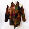 Blouson en cuir d'agneau motif patchwork - Fernando Soriano - Taille 40