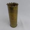 Douille d'obus de 75 mm décorée, art des tranchées
