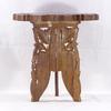 Ancienne sellette vintage trépied pliable - bois sculpté