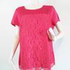 Blouse à col bateau manches courtes de couleur rose effet satiné pour femme de la marque SIXTH SENSE BY C&A RTTSDS091894