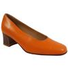 Chaussure escarpin Heyraud P 36 1/2 en cuir orange