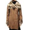 Manteau Caroll T 38 Veste façon peau retournée fourrure synthétique
