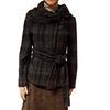 Veste paletot manteau court Zara en lainage à carreaux T L