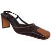 Sandale Ursula Mascaro chaussure bicolore en cuir marron P 36