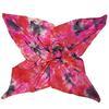 Foulard Clo Création vintage carré de soie peint à la main