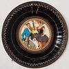 Assiette vintage décor kitsch danseurs folklore espagnol