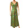 Robe longue vintage années 70 T M fait main par couturière imprimé pop