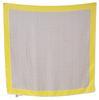 Foulard Carré de soie Devernois 82 x 82 cm imprimé géométrique gris et jaune