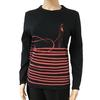 Top Tee shirt Jean Paul Gaultier vintage T S rayures et silhouette rouges