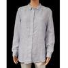 Neuf & étiquette chemise Monoprix T 48 en lin rayures bleues et blanches