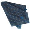 Carré foulard Climat de Lancôme imprimé bleu et or 78,5 x 77 cm