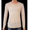 Neuf & étiquette Tee shirt Monoprix T M en maille de lin beige chiné