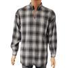Chemise tunique vintage Le Garage T XL à carreaux gris et noirs & blancs