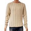 Neuf & étiquette Pull New Look T L  en maille torsadée beige