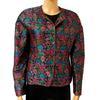 Veste Guy Laroche vintage T 40 en brocard motifs floraux colorés