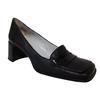Chaussure  à talon CJ Bis Charles Jourdan P 40 en cuir noir Mocassin vintage
