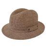Chapeau style panama en lainage marron chiné T L