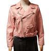 Veste blouson Perfecto Zara T L en simili cuir rose pastel