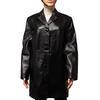 Veste 3/4  manteau vintage Alyssa T 42  en cuir noir