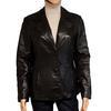 Veste tailleur Oakwood T L en cuir noir