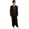 Manteau maxi veste longue Expresso T 44 en cuir noir