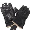 Gants neufs pour homme en cuir noir doublé laine T L