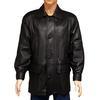Blouson veste manteau T 48 en cuir agneau noir