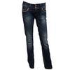 Pantalon Jean Le Temps des Cerises T 27 = 36 en toile denim bleu délavé