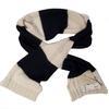 Neuf & étiquette Écharpe Monoprix en maille ( 30% mohair 11% laine ) bleu marine et blanc cassé
