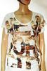 T-Shirt Femme Ecru IKKS T 42.