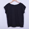 T-shirt noir avec détails ajourés - Femme - T40