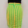 Jupe rayée vert & jaune