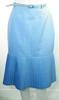Jupe Bleue Vintage Taille Estimée 34.
